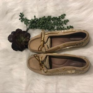 Gold Sperry Topsider